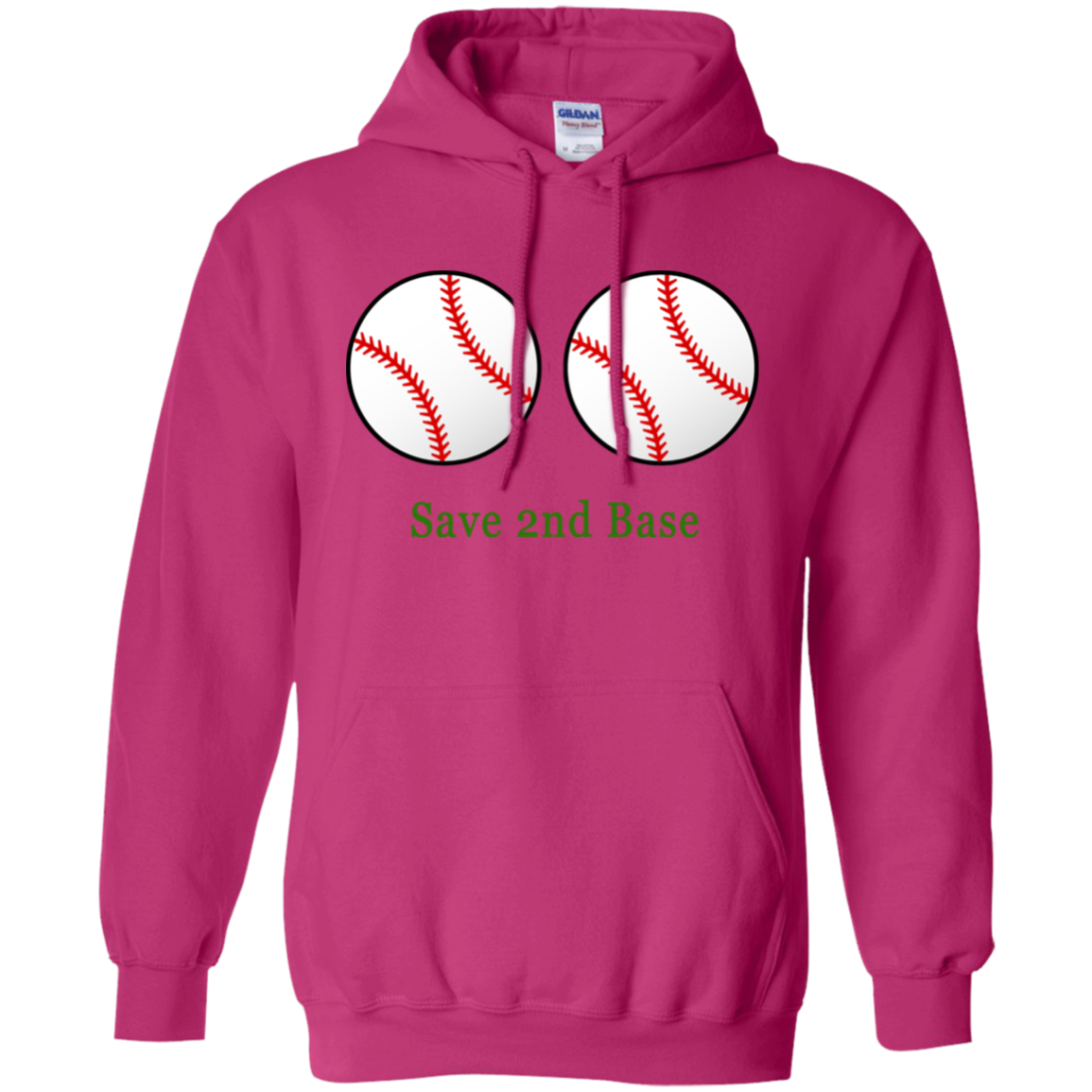 Save 2nd Base Breast Cancer Hoodie