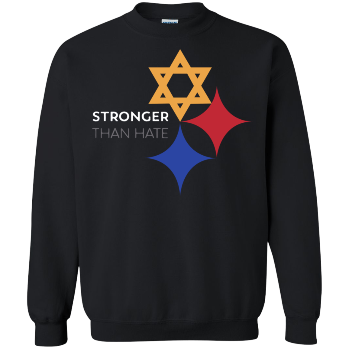 Steelers Pittsburgh Stronger Than Hate Sweater Sweatshirt