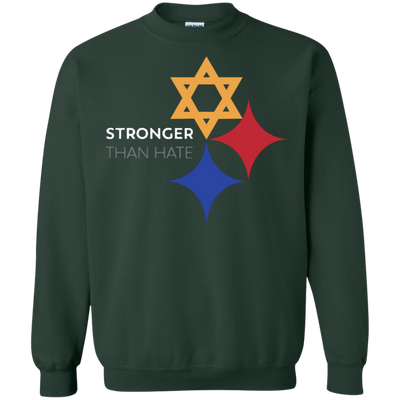 Steelers Pittsburgh Stronger Than Hate Sweater Sweatshirt - Forest Green - Shipping Worldwide - NINONINE