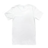 Back of white short-sleeved t-shirt