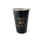 Black Klean Kanteen pint cup with Tito's Handmade Vodka logo on front
