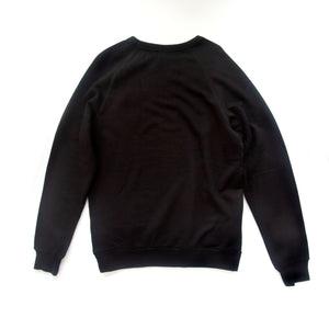 Back view of black pullover