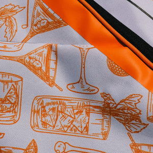 Orange and white cocktail illustrations