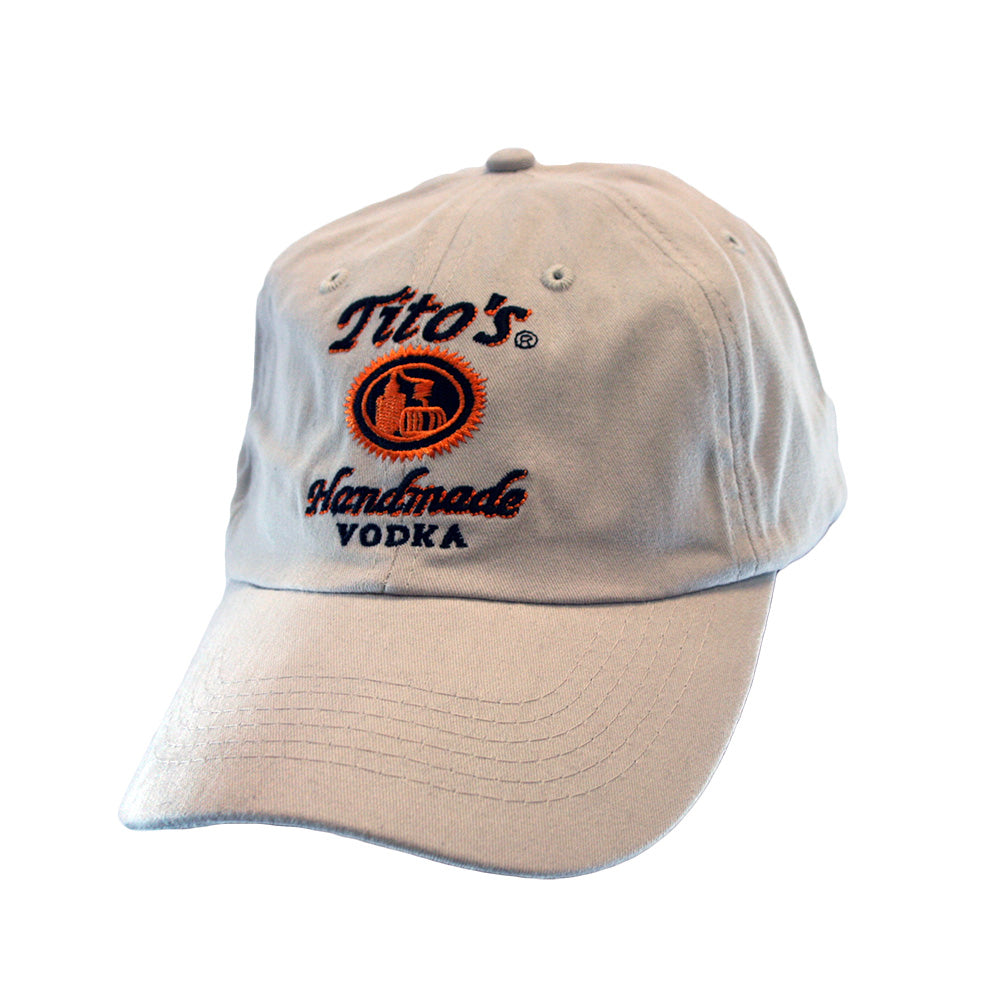 Tan Tito's Handmade Vodka logo baseball hat