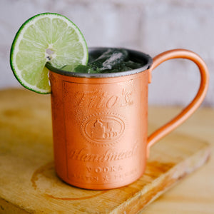 Tito's American Mule in a branded copper mug