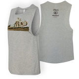 Gray Ladies' Tito's Rodeo Muscle Tank front and back combined view