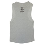 Gray Ladies' Tito's Rodeo Muscle Tank with Tito's logo and text on back