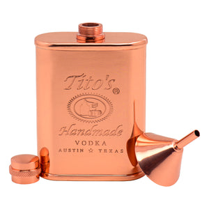 Copper flask includes small copper funnel