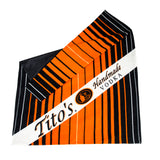 Water-resistant PVC-coated picnic blanket with fleece interior and Tito's Handmade Vodka logo