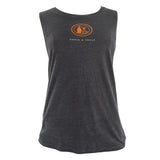 Gray Ladies' Muscle Tank with Tito's Potstill Logo on front