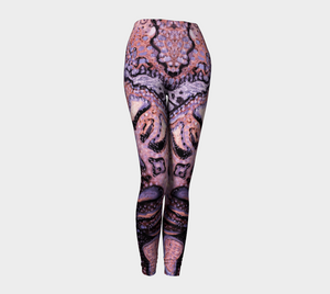 Pink Ocean Leggings Abstract Dark