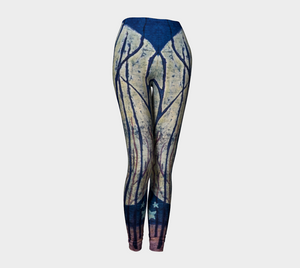 Night Forest Leggings - Moon