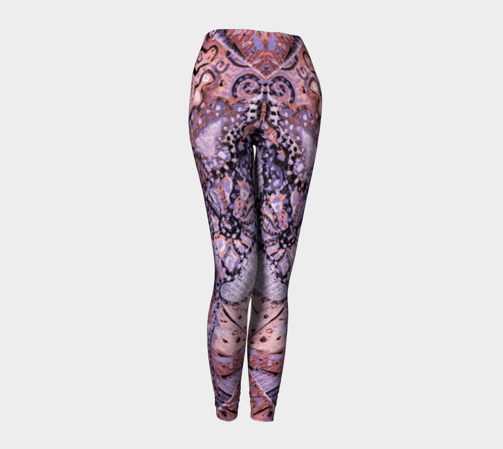 Pink Ocean Leggings - Abstract