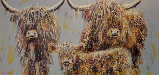 Ruby Keller Original Artwork of a Highland Cow