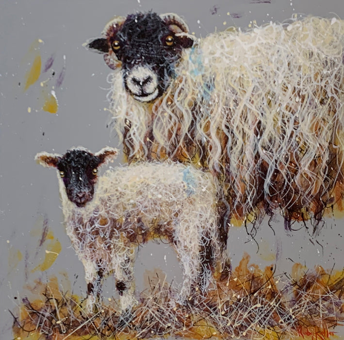 Ruby Keller Original Artwork of a Herdwick Sheep