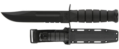 KA-BAR 1214 FULL SIZED BLACK SERRATED Fixed-Blade Knives