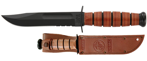 KA-BAR 1261 USMC SHORT SERRATED Fixed-Blade Knives