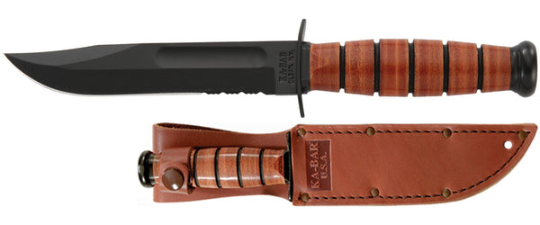 KA-BAR 1252 USA SHORT SERRATED Fixed-Blade Knives
