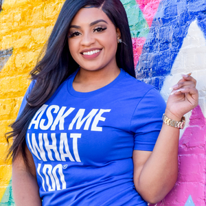 Ask Me What I Do Billboard Shirt | Blue