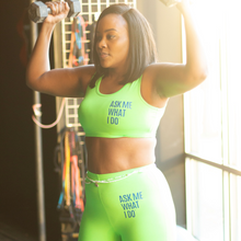 Load image into Gallery viewer, Networking Fitness Top/Shorts Set | Lime Green