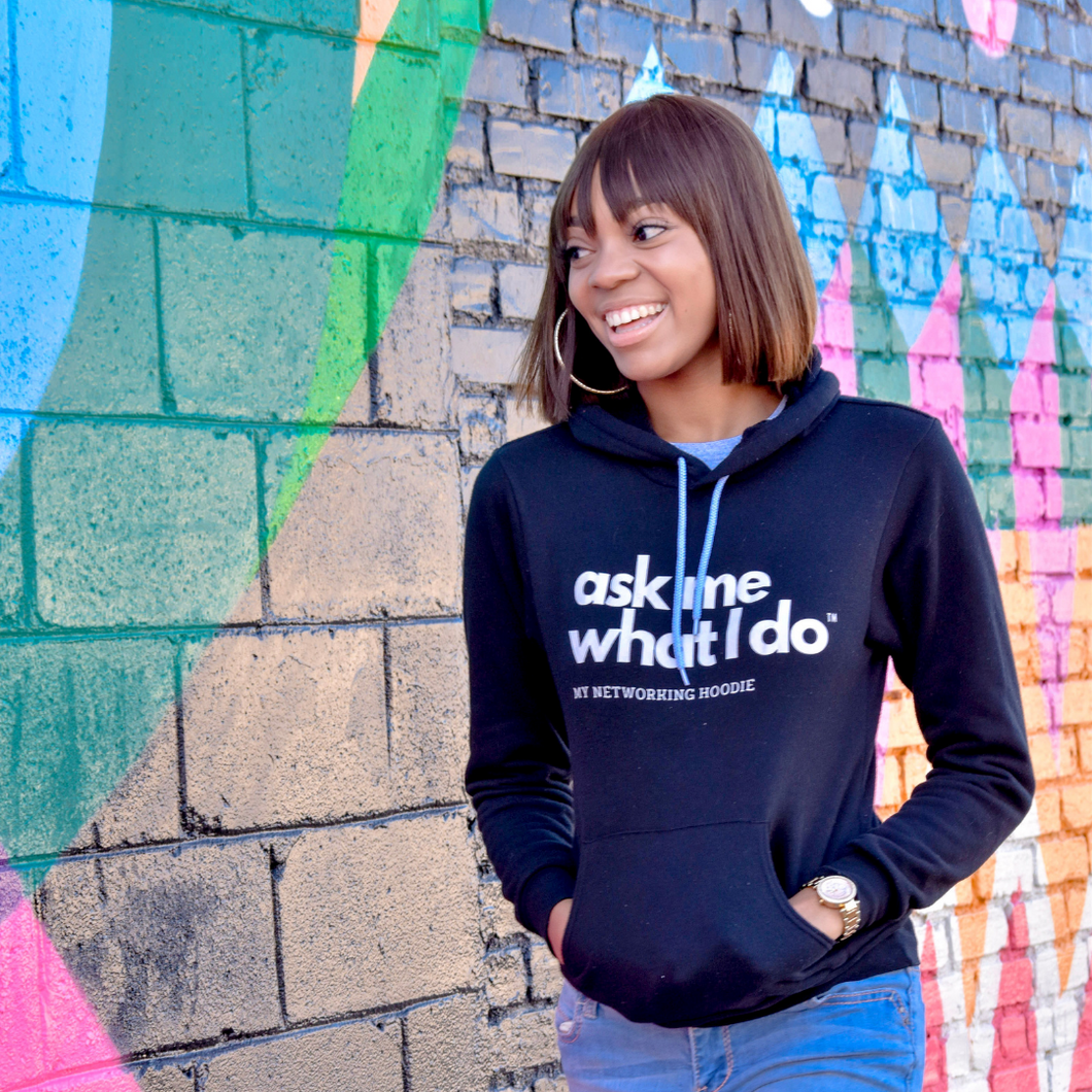 Ask Me What I Do | Signature Hoodie Black