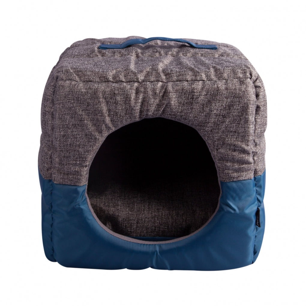 Pet One Blue Grey Eco Recycled Plastic Cat Cube Bedding