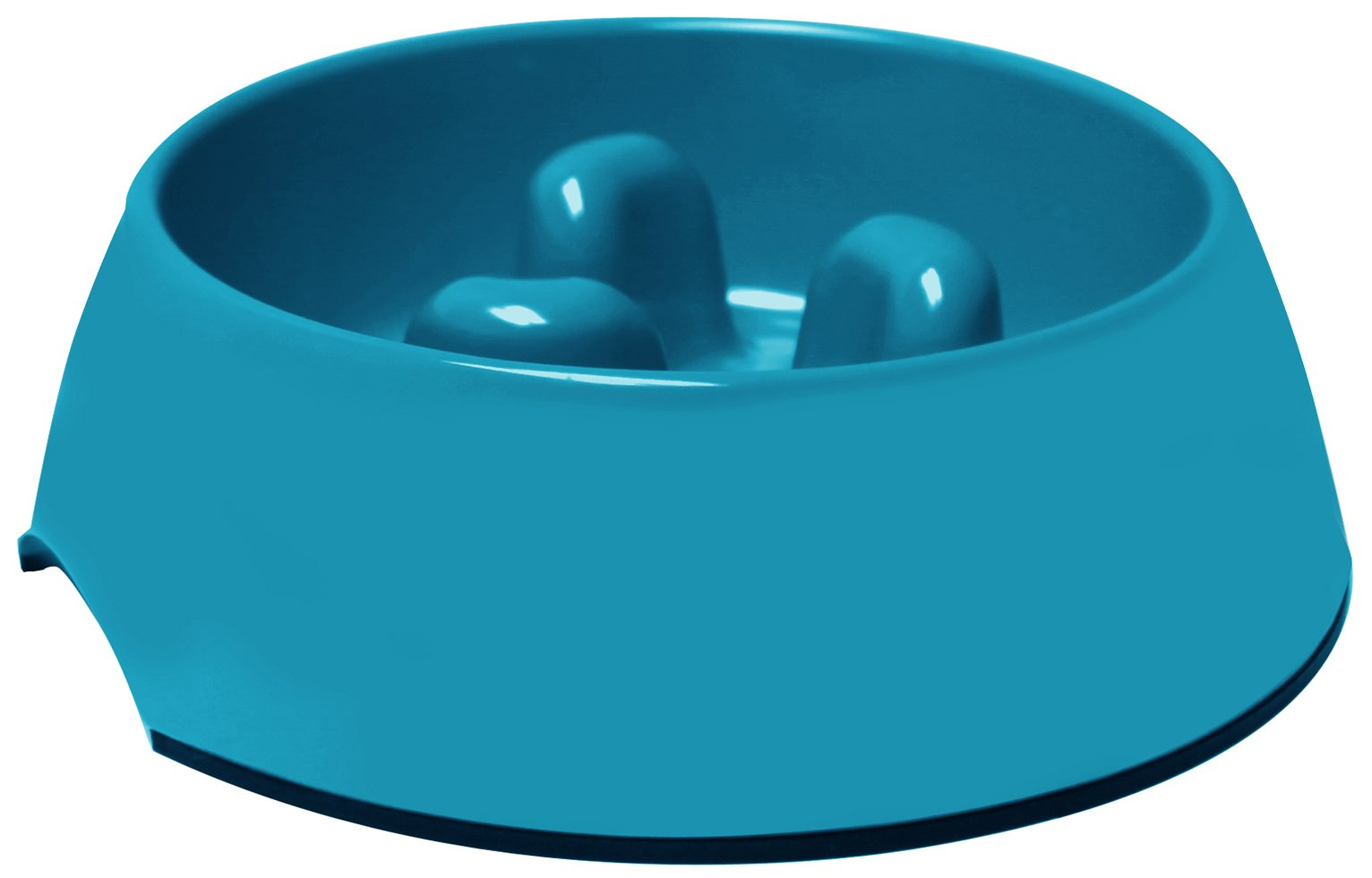Pet One Slow Down Feeder Bowl Blue