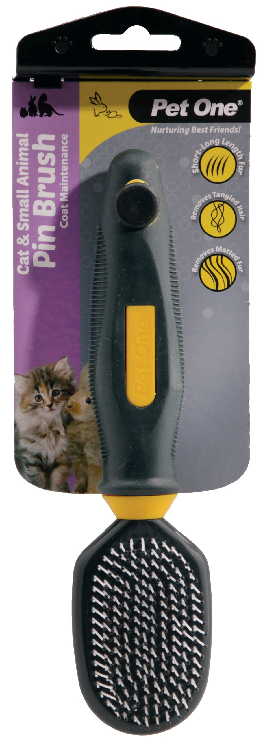 PO Cat & Small Animal Plastic Pin Brush - RSPCA VIC
