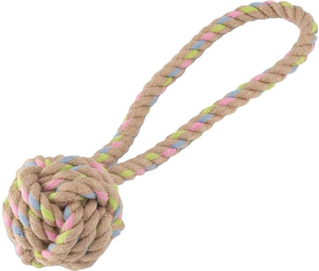 Beco Hemp Rope Ball with Loop Eco Dog Toy