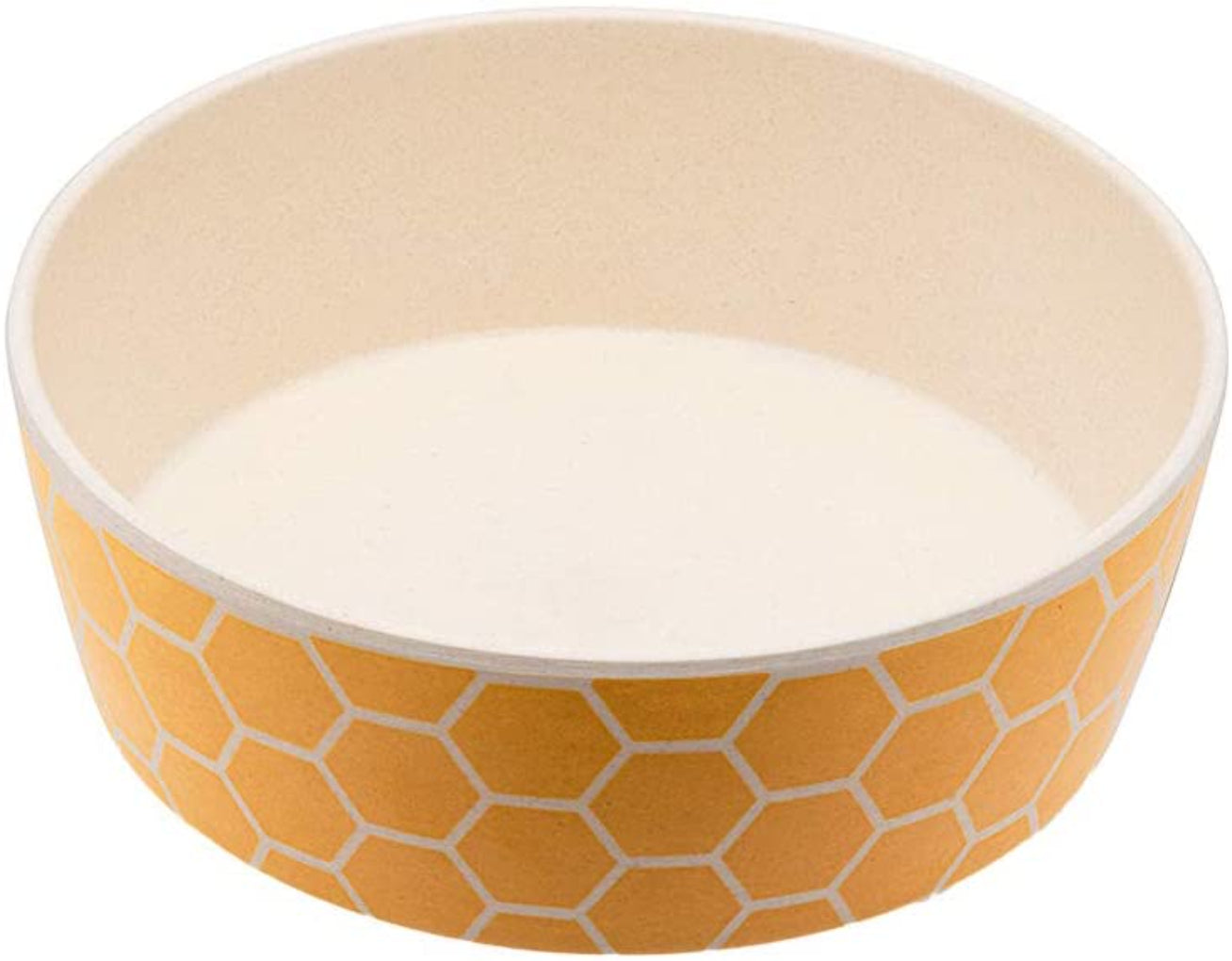 Beco Pets Classic Bamboo Dog Honeycomb Bowl-Save The Bees