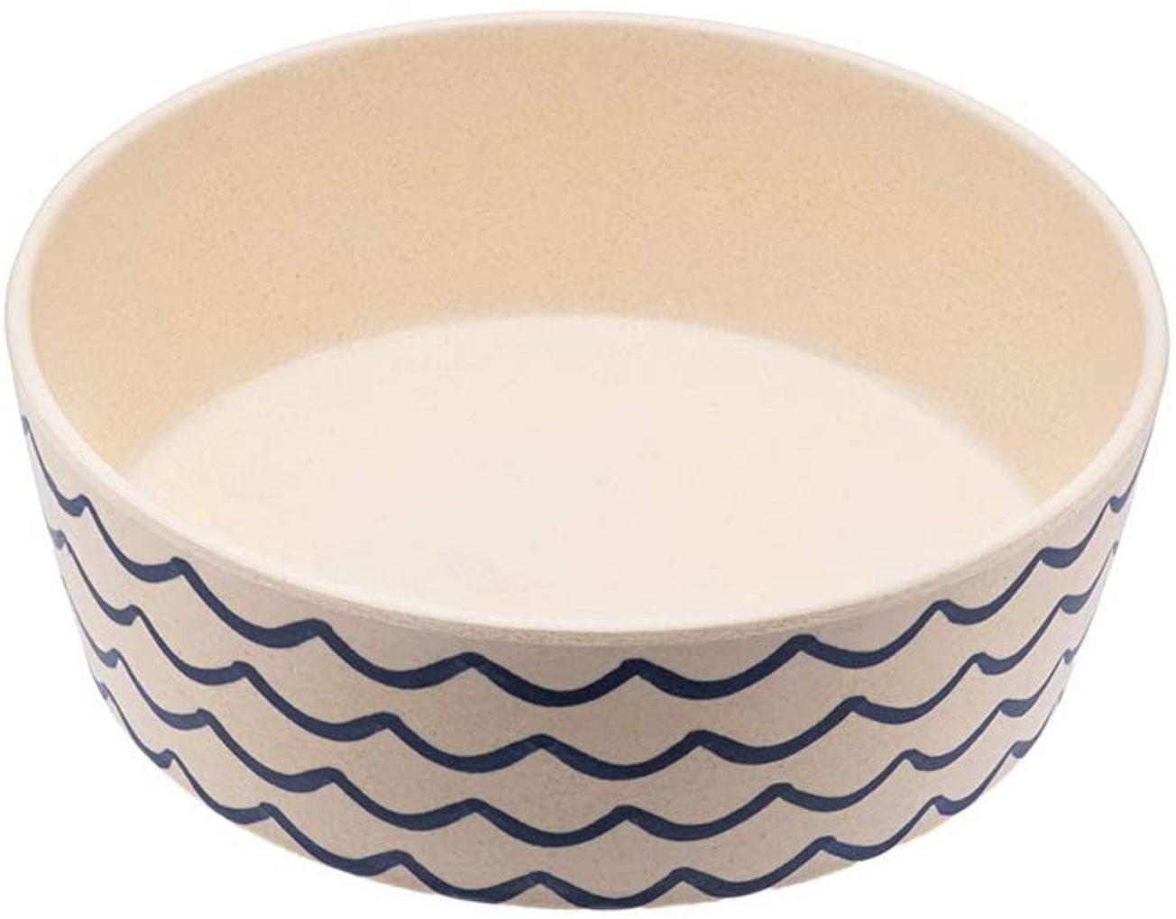 Beco Pets Classic Bamboo Dog Ocean Waves Bowl-Save The Waves