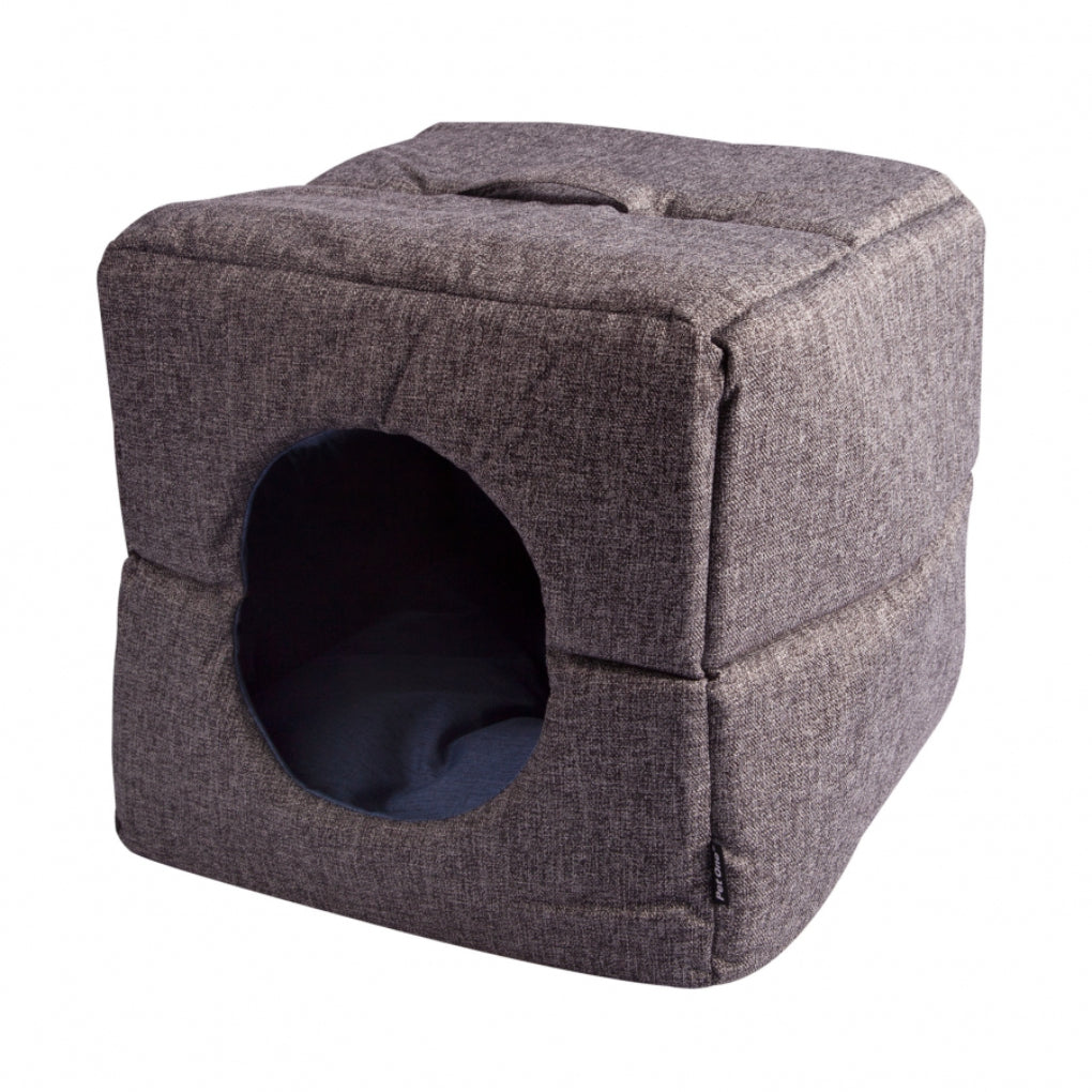 Pet One Grey Eco Recycled Plastic Cat Cube Bedding