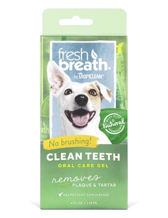 Tropiclean Fresh Breath Clean Teeth Gel 118ml - RSPCA VIC
