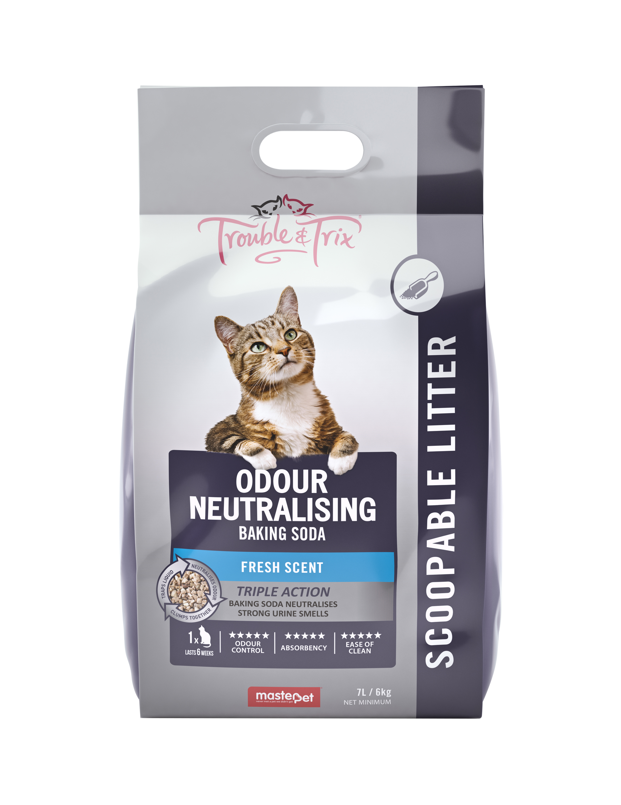 T&T Odour Neutralising + Baking Soda Cat Litter 7L - RSPCA VIC