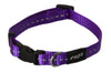 Rogz Collar Nitelife Purple - RSPCA VIC