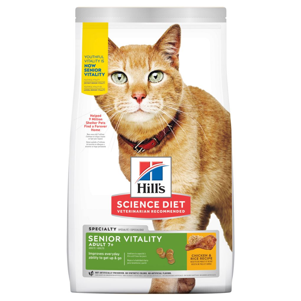 Hills Feline Adult 7+ Youthful Vitality 1.36kg - RSPCA VIC
