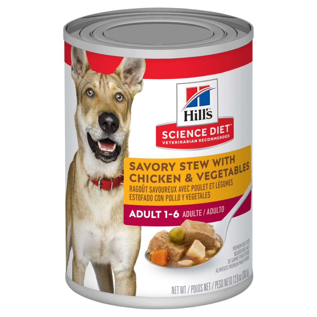 Hill's Science Diet Canine Adult Savoury Stew Chicken & Veg 363g