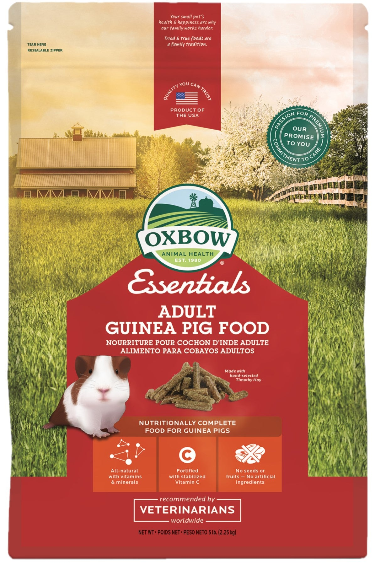 Oxbow Adult Guinea Pig Food 2.25kg - RSPCA VIC