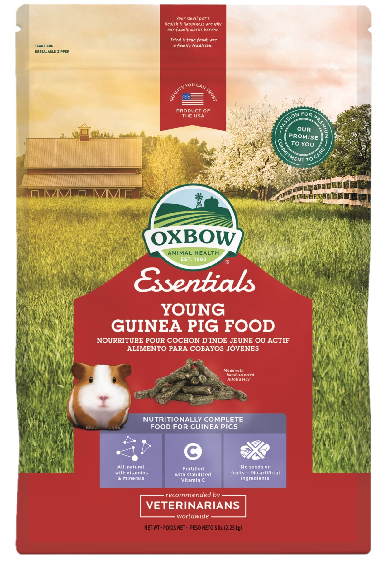 Oxbow Young Guinea Pig Food 2.25kg - RSPCA VIC