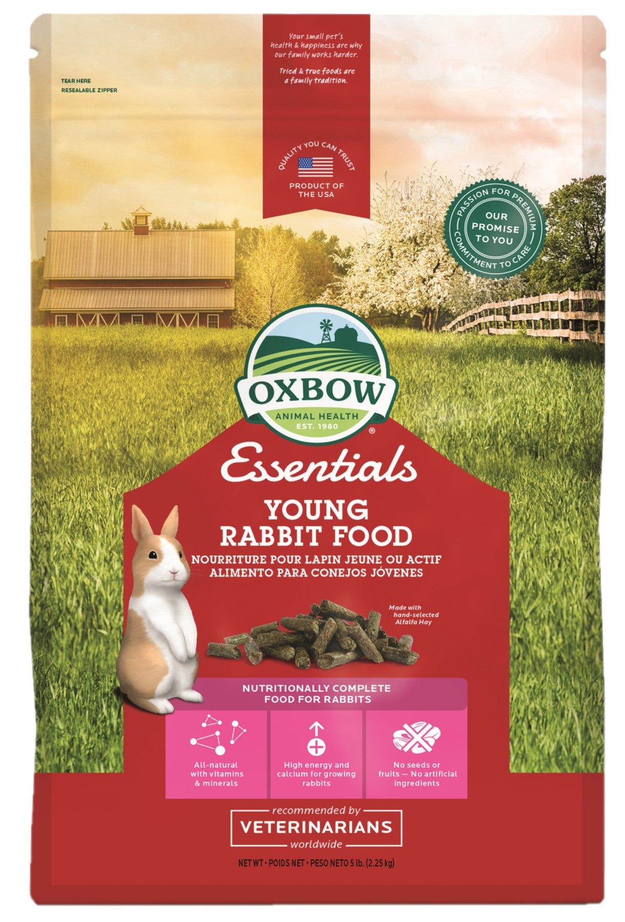 Oxbow Young Rabbit Food 2.25kg - RSPCA VIC