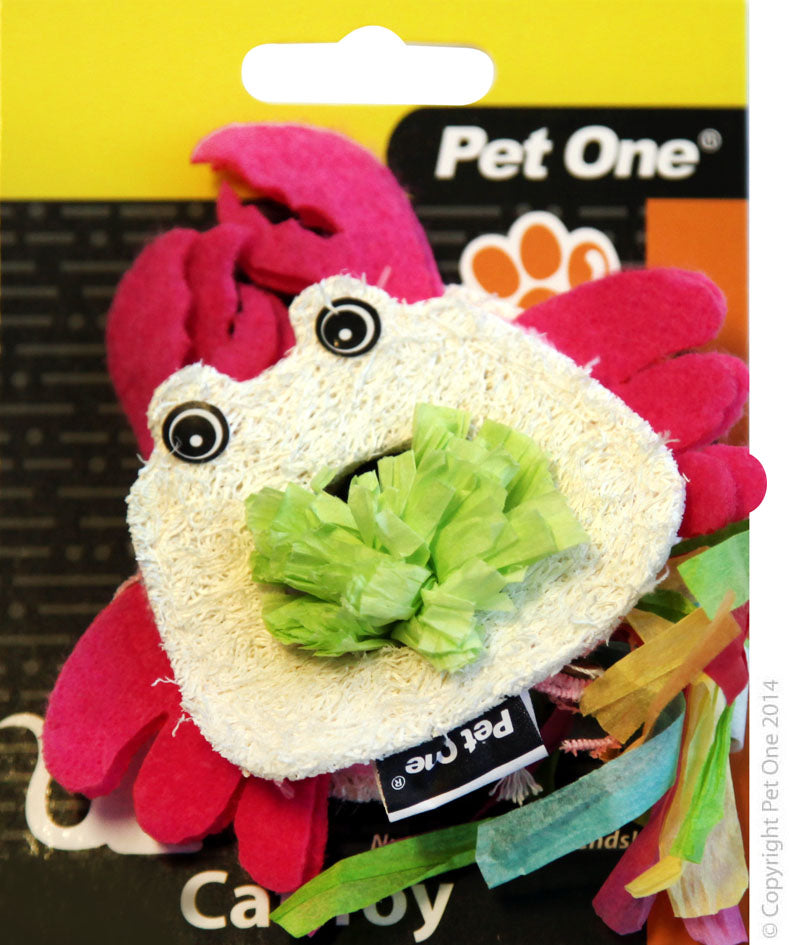 Pet One Cat Toy Loofa & Raffia Crab - RSPCA VIC