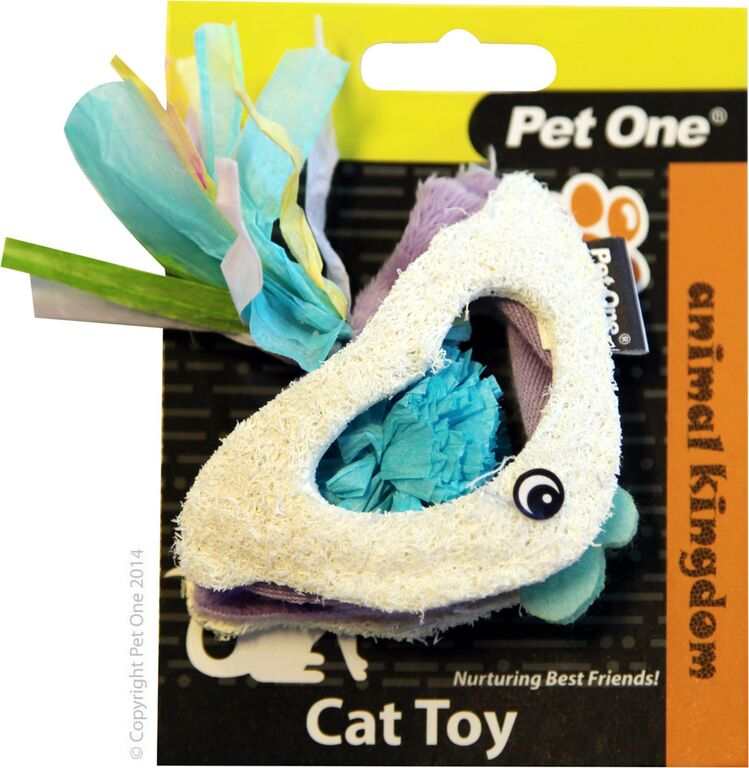 Pet One Cat Toy Loofa & Raffia Fish - RSPCA VIC