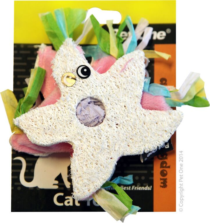 Pet One Cat Toy Loofa & Raffia Seastar - RSPCA VIC