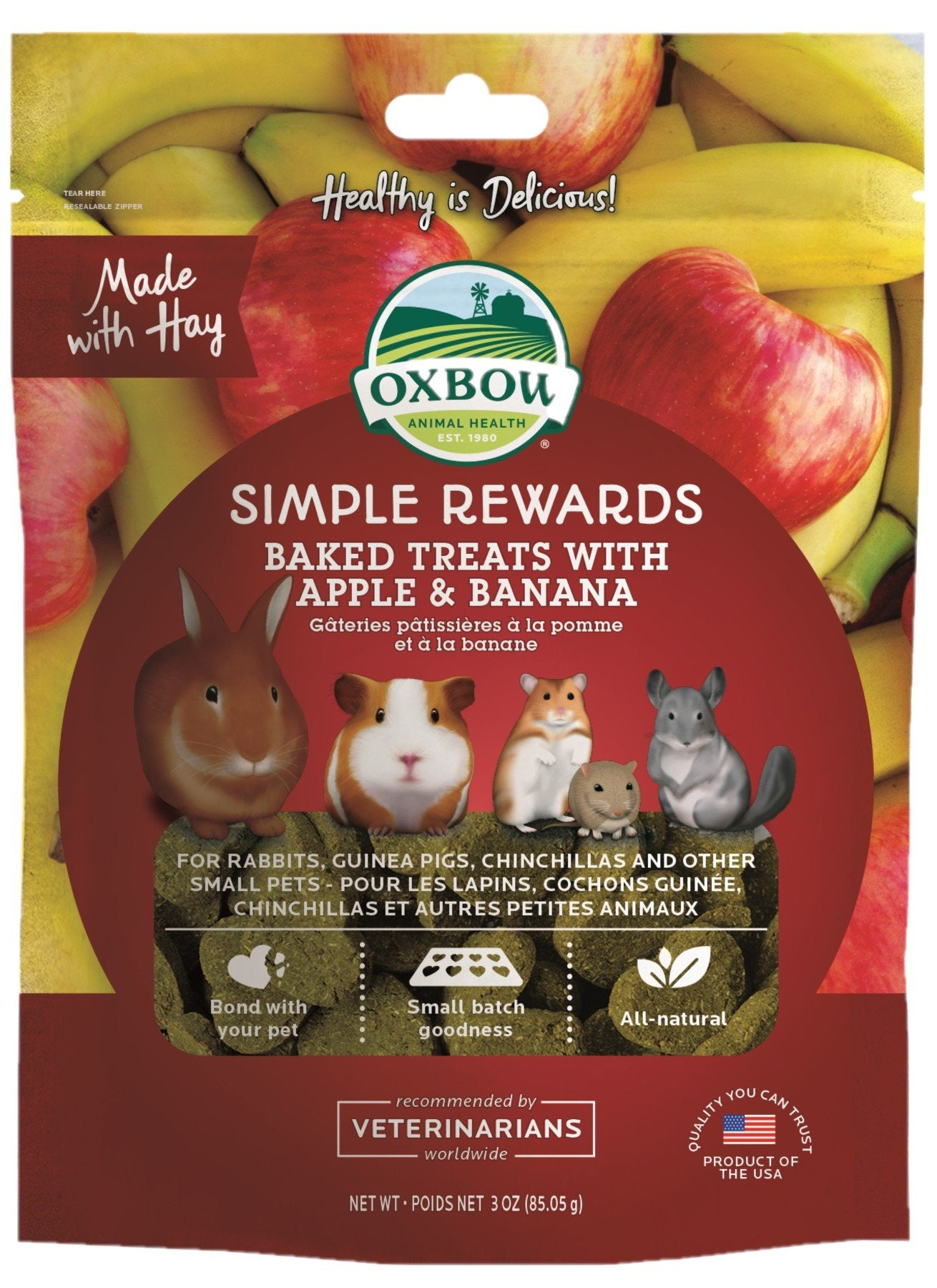 Oxbow Simple Rewards Apply & Banana 85g - RSPCA VIC