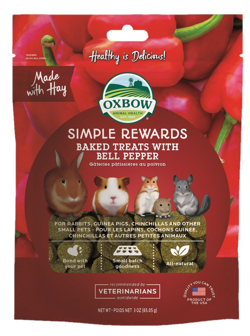 Oxbow Simple Rewards Bell Pepper 85g - RSPCA VIC