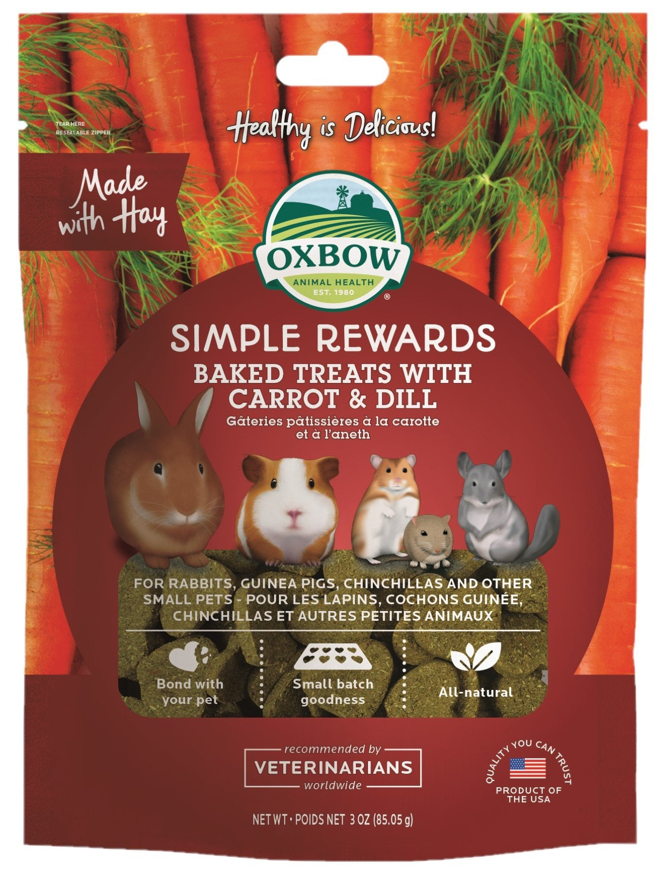 Oxbow Simple Rewards Carrot & Dill 85g - RSPCA VIC