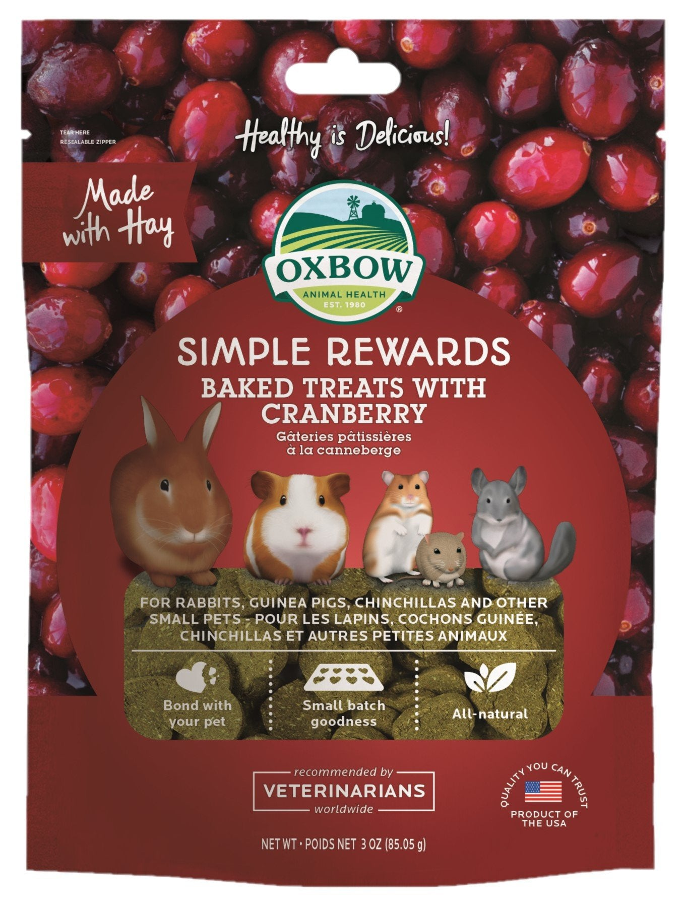 Oxbow Simple Rewards Cranberry 85g - RSPCA VIC