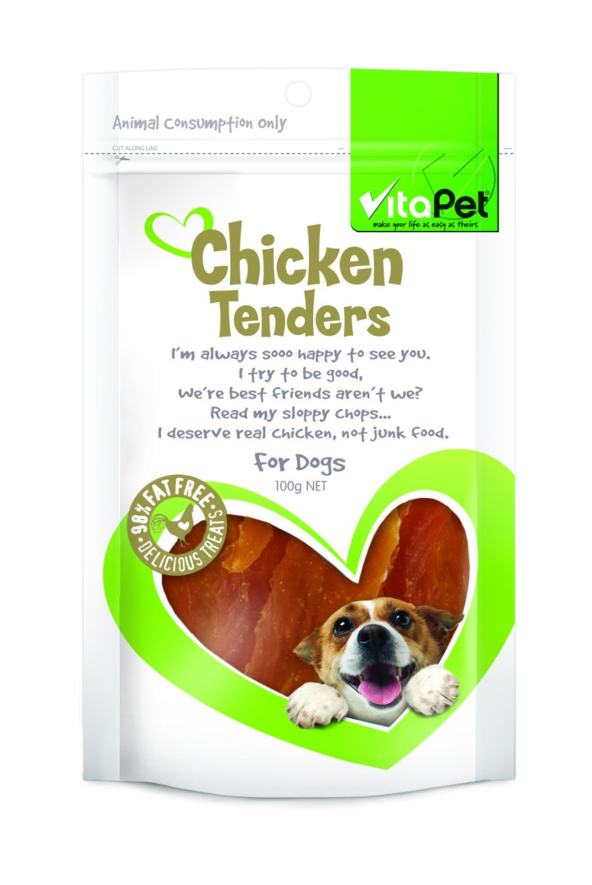 Vitapet Jerhigh Chicken Tenders 100g - RSPCA VIC
