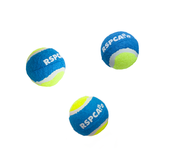 RSPCA Tennis Ball 3 Pack