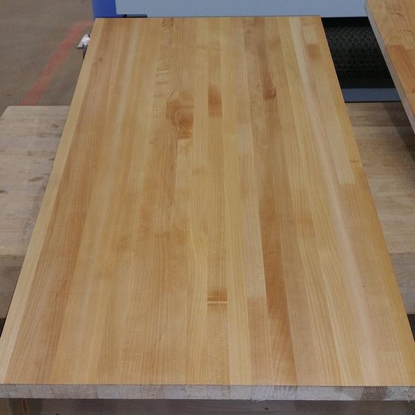 Unfinished Pacific Coast Maple butcher block.